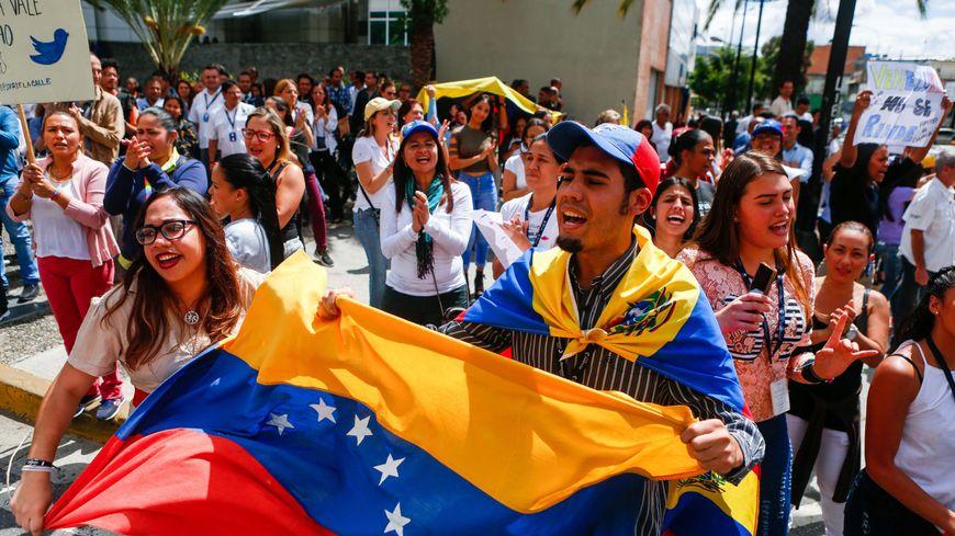 Manifestation d'opposants au président Maduro au Venezuela le 30 janvier 2019