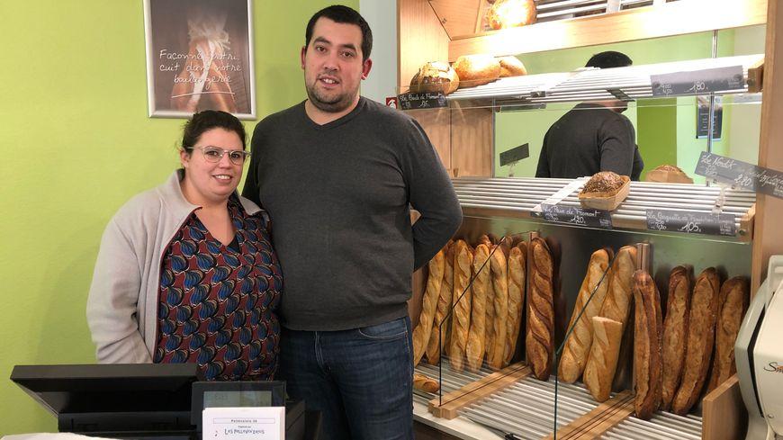 Mickaël et Romane Amy ont racheté la boulangerie il y a 14 mois