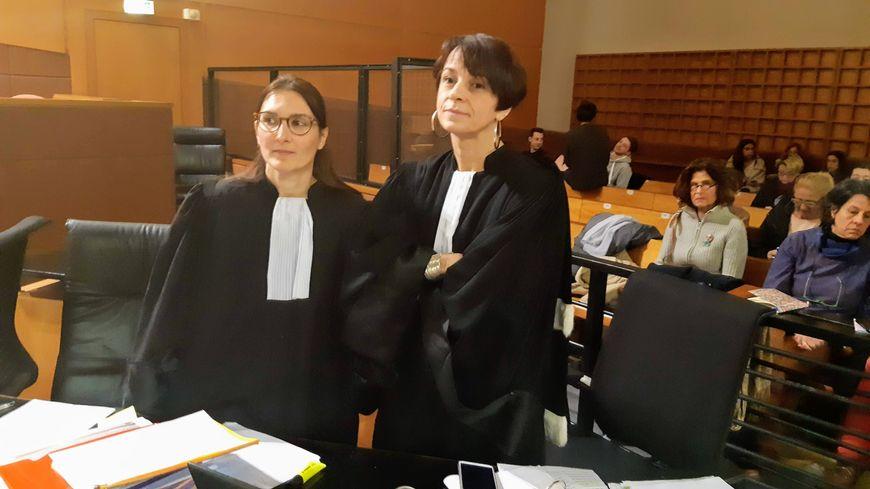 Les avocates de la défense Maîtres Hay et Coutand