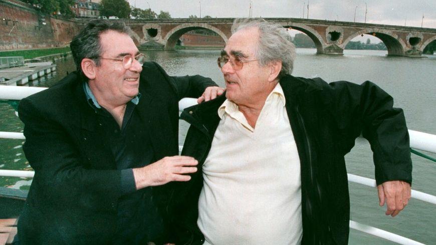 Claude Nougaro et Michel Legrand sur les bords de la Garonne en 1999