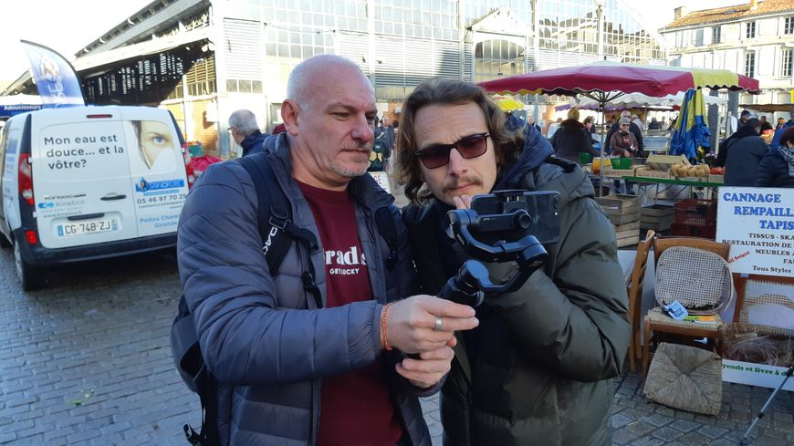 Lorànt Deutsch était venu le jeudi 17 janvier à Niort pour le tournage de sa vidéo
