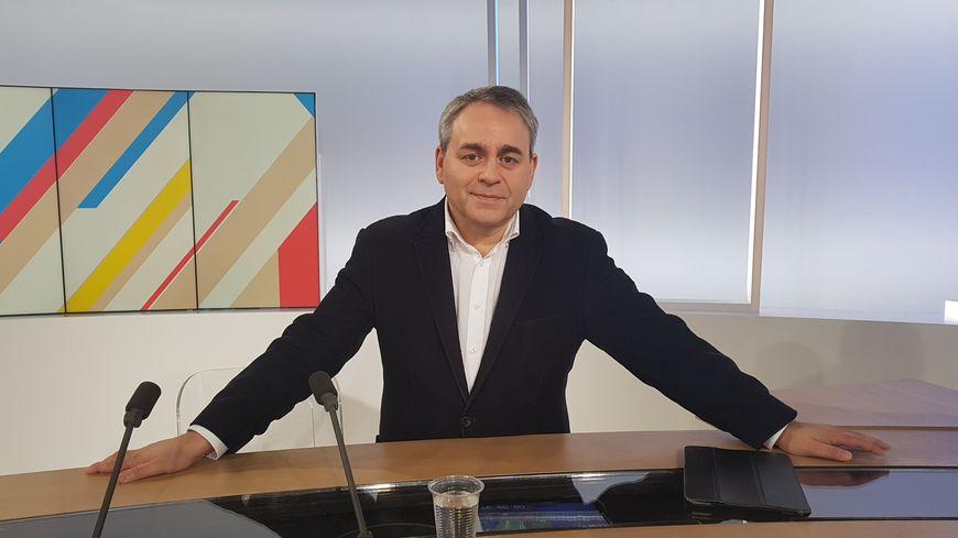 Xavier Bertrand, sur le plateau de l'émission Dimanche en Politique, sur France 3 Nord-Pas-de-Calais le 12 janvier 2019