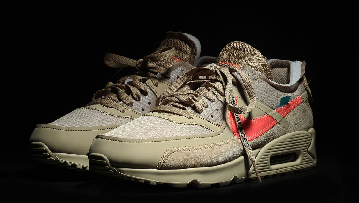 Nike : les Off White x Air Max 90 Desert Ore et Black seront