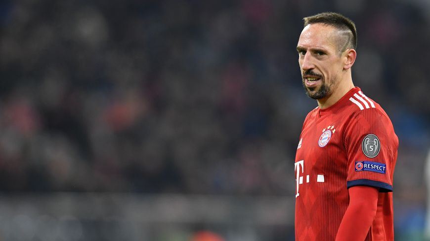 Francky Ribéry, le footballeur français est ailier gauche au Bayern Munich