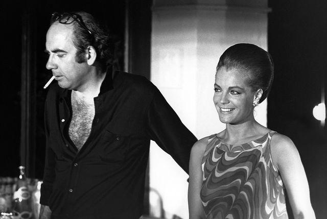 Jacques Deray et Romy Schneider sur le tournage de La Piscine