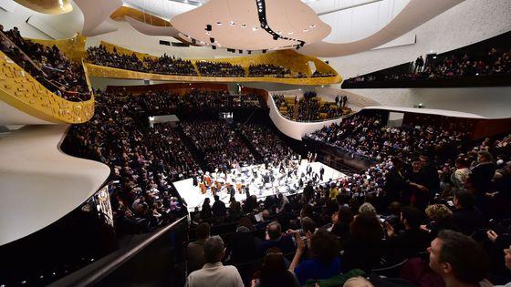 La Grande salle Pierre Boulez de la Philharmonie de Paris