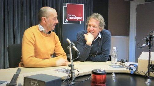 France Musique, studio 131... Hervé Niquet & Benoît Duteurtre (g. à d.)