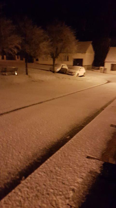 La neige à Jumilhac en Dordogne