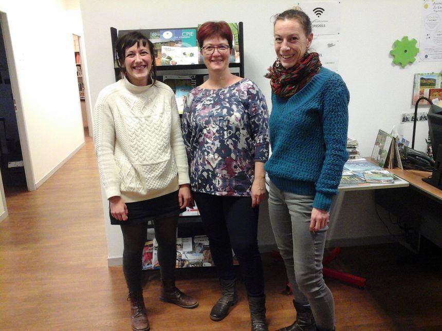 Julie, Chouchou et Claire : Le CPIE semble bien dans son élément à Sellières !