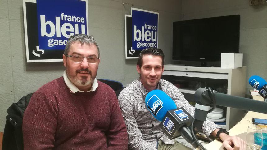 Christophe Belmonte et Clément son second