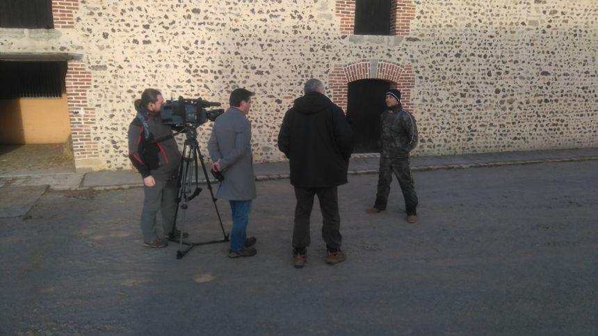 Des journalistes russes sont venus dans l'Orne pour réaliser un reportage sur Bold Eagle