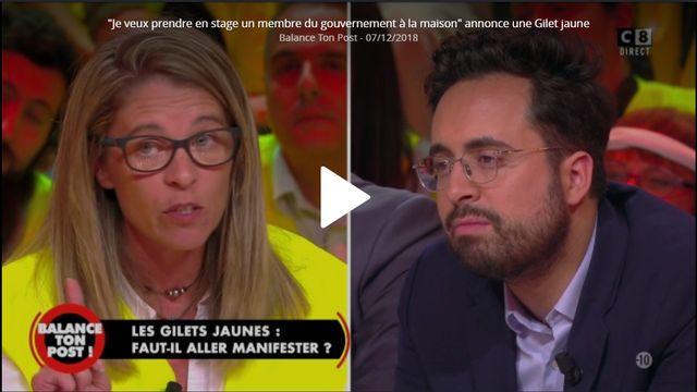 """Céline, """"gilet jaune"""", invitait en décembre un membre du gouvernement à venir vivre sa vie d'infirmière"""