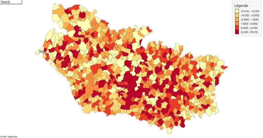 L'évolution de la population dans la Somme entre 2011 et 2019