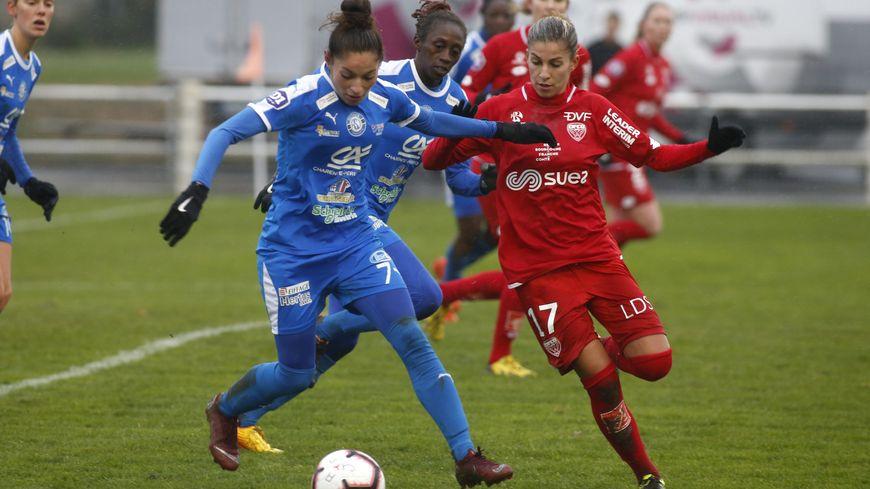 La numéro 7 Anna Clerac lors d'un match contre Dijon le 15 décembre dernier. (Victoire 4-2).