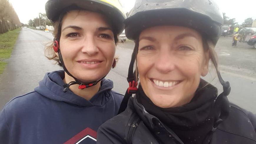 Mélanie Cren et Elodie Montecot composent l'équipe des Amazones de la Baie