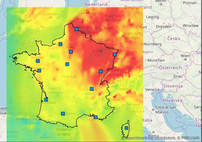 Pollution Carte France | Carte De France