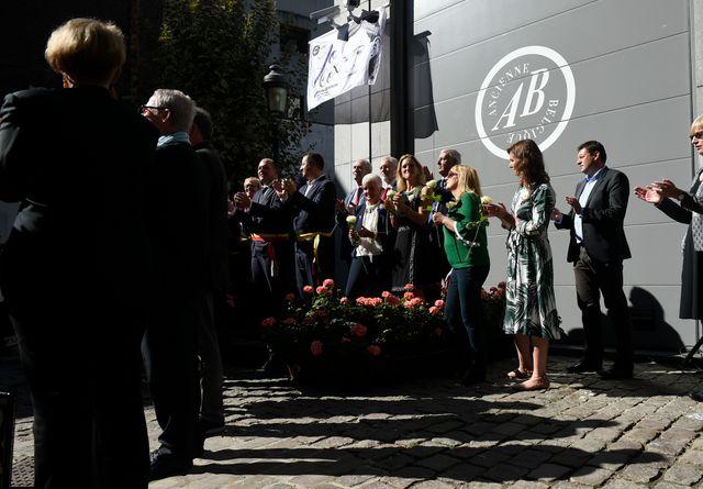 La famille de Jo Cox, le 27 septembre 2018 à Bruxelles à l'occasion de l'inauguration d'une place à son nom
