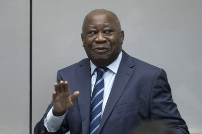 L'ancien président ivoirien Laurent Gbagbo devant la Cour au moment de l'annonce de son acquittement