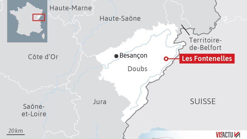 Les Fontenelles : petite commune à l'est du département du Doubs.