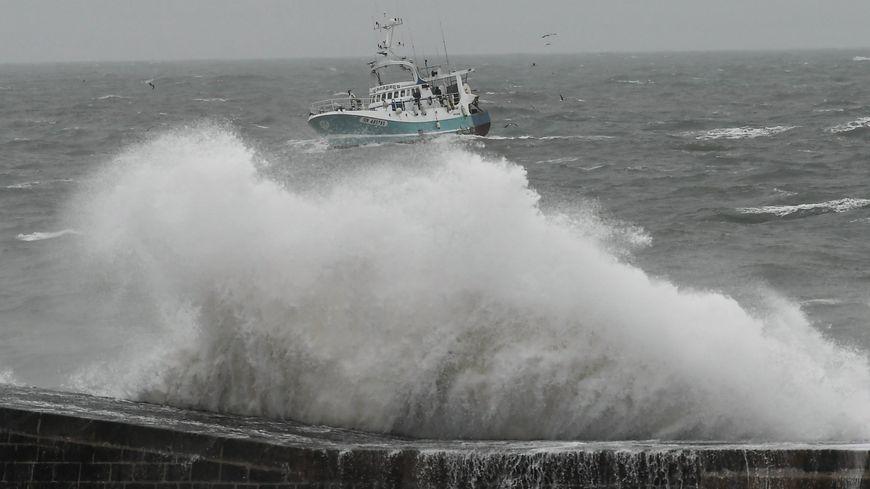 Image de la tempête Gabriel aux Sables d'Olonne