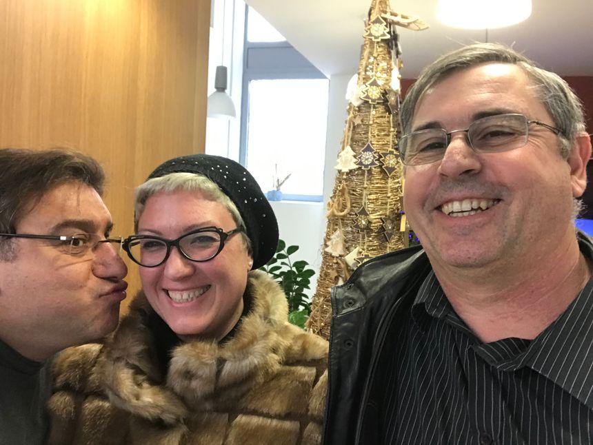 Franck, Julie Haubourdin et Christian Nagearaffe