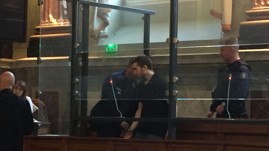 Kevin, le mari de Sofya Rouxel-Bodnarchuk lors du procès d'Assises