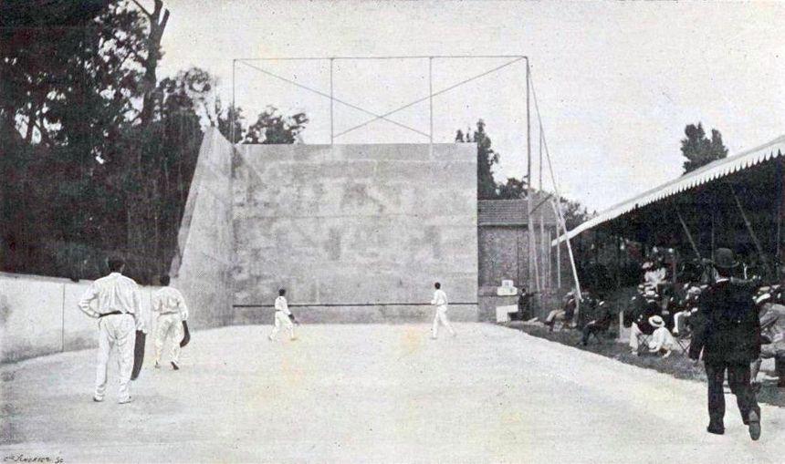 Le Fronton de Neuilly durant les Jeux Olympiques de 1900