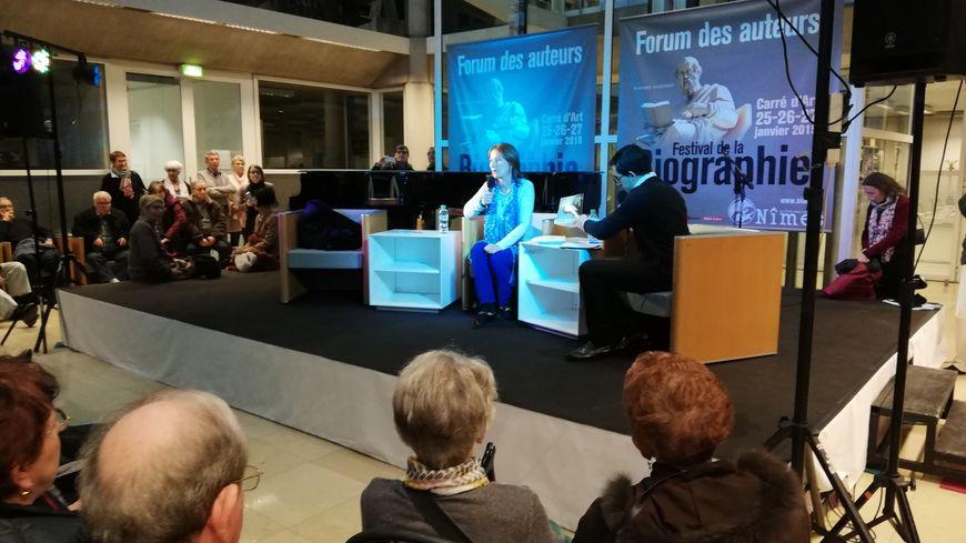 Dimanche après-midi Ségolène Royal a donné une conférence et dédicacé son livre.