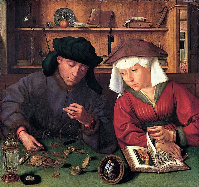"""""""Le Prêteur et sa femme"""" (Anvers, 1514)"""