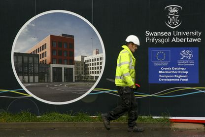 Sur le nouveau campus de l'université galloise de Swansea, l'UE a financé en partie les travaux