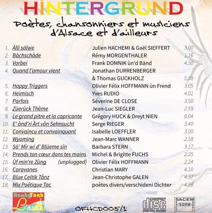 Les artistes de Hintergrùnd