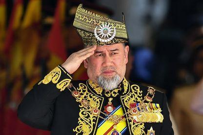Lle 15ème roi de Malaisie, le sultan Muhammad V (ici en juillet 2018) a abdiqué pour une raison mystérieuse
