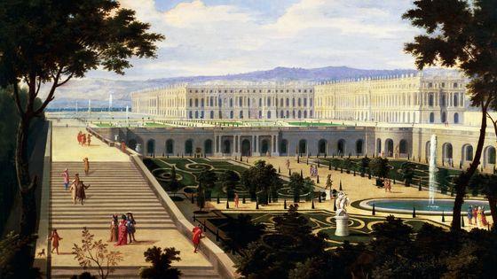 Jean Baptiste Martin & Etienne Allegrain, L'Orangerie du Château de Versailles (1695)