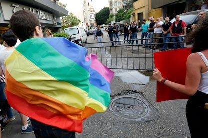 Manifestation de la communauté LGBT, à Beirouth, le 15 mai 2016.