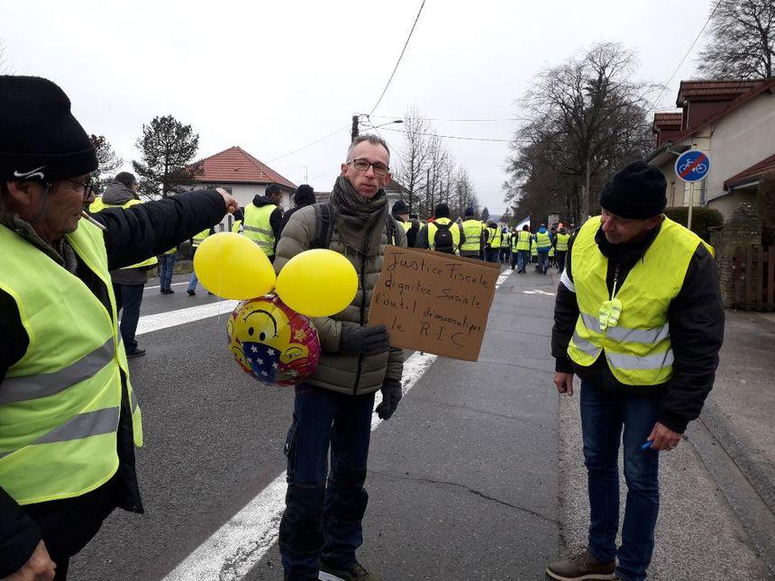 Des manifestants à Héricourt.