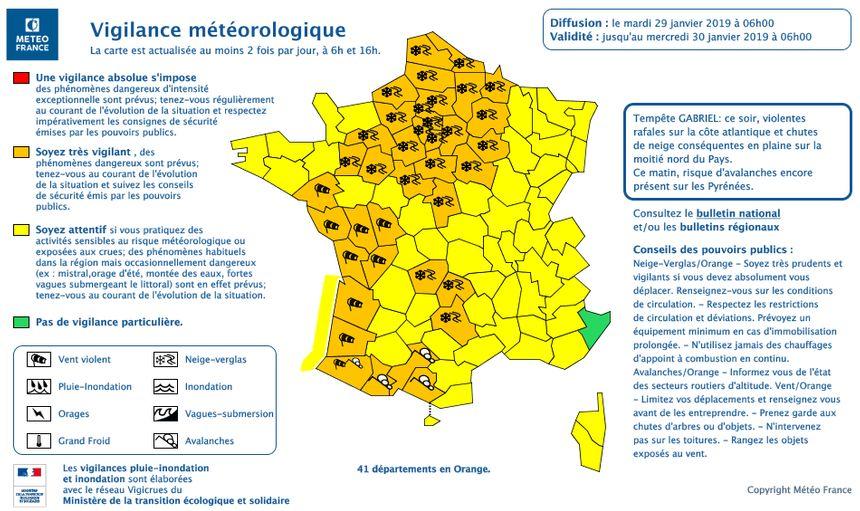 41 départements, dont les Landes, placés en vigilance orange