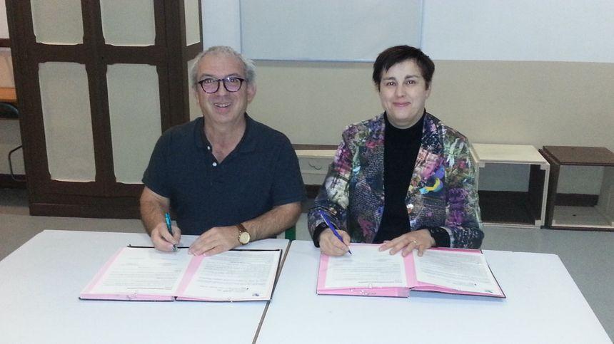 Alain Bouquin, président de la MJC d'Asnières et Agnès Sinsoulier-Bigot, vice présidente du conseil régional Centre Val de Loire.