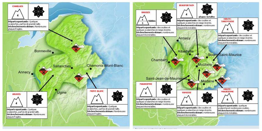 Le risque d'avalanche est fort ce lundi en Pays de Savoie