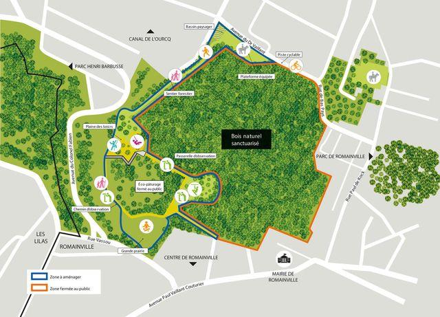 Forêt de Romainville : le projet d'aménagement
