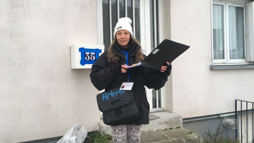 Sandrine, agent recenseur pour la ville de Reims pour la 7ème année