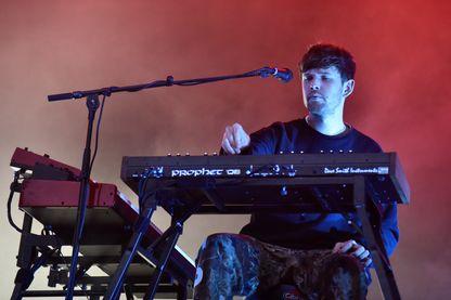 James Blake, auteur, compositeur, producteur et chanteur de musique électronique, en concert au Golden Gate Park le 12 août 2018 à San Francisco