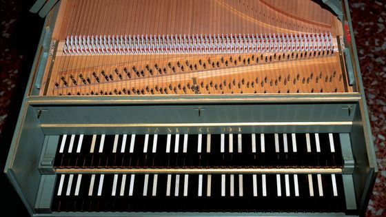 Un clavecin au Conservatoire Giuseppe Verdi en Italie
