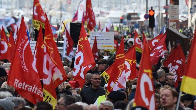 Manifestation de la CGT en décembre 2018, à Marseille