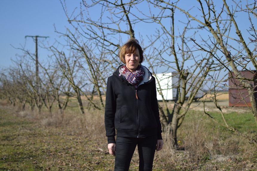 Anne Gié, arboricultrice à Pouligny-Saint-Pierre.
