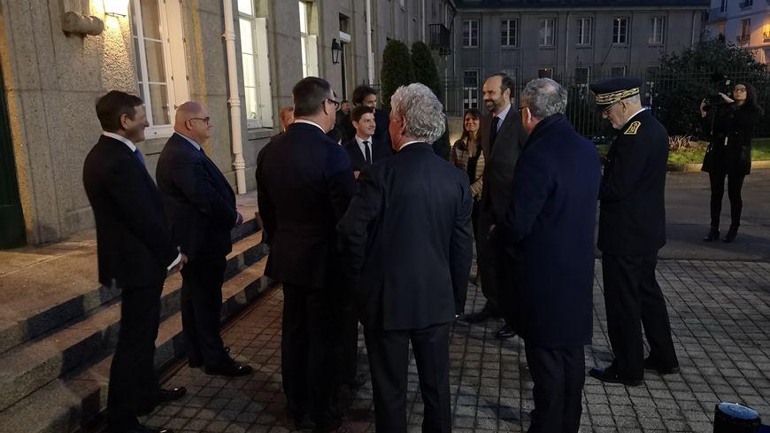 Edouard Philippe accueilli à Brest