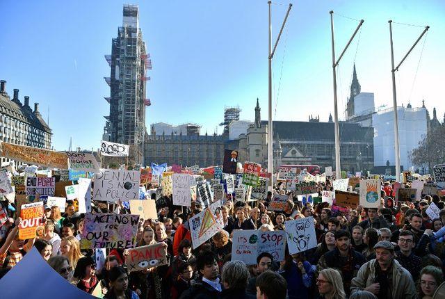 La mobilisation britannique, ici le 15 février à Londres.