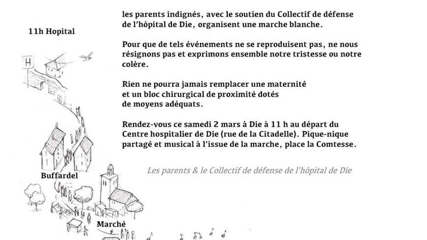 Une marche blanche prévue ce samedi 2 mars à Die (Drôme)