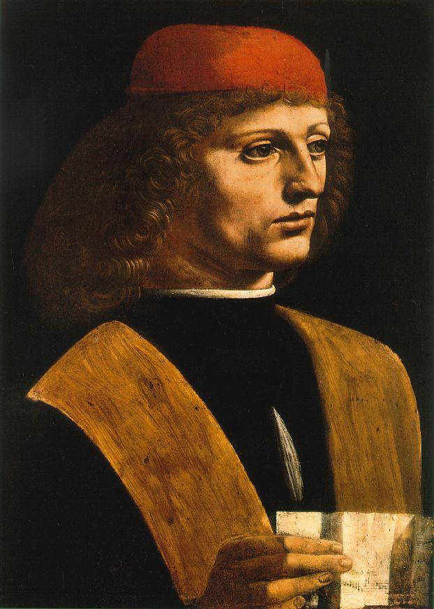 Portrait de musicien par Léonard de Vinci (vers 1485)