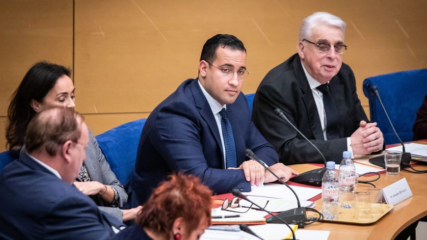 Alexandre Benalla lors d'une audition par la commission d'enquête du Sénat, le 21 janvier 2019.