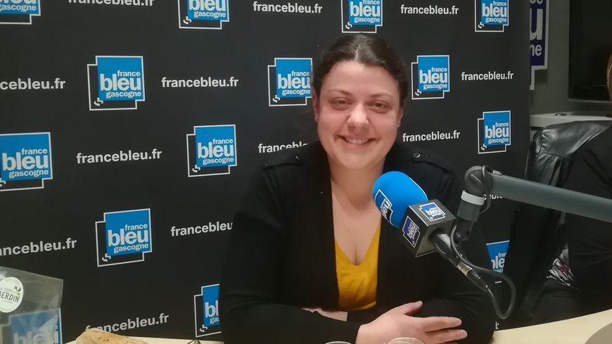 Magalie Tauzin de la Ferme de Berdin à Banos